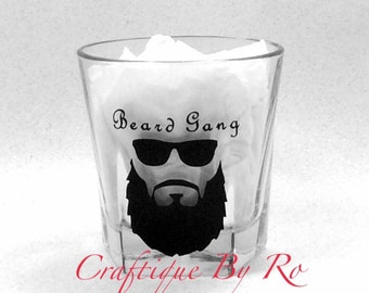 Beard Gang Whisky Glass