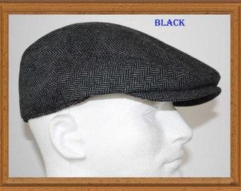 Wool Herringbone Flat Driver Ivy Golf Hats Gatsby Cap