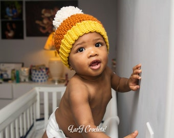 Child Beanie // For Babies, Toddlers, Children Ages 0-5 years (Handmade Crochet Hat)