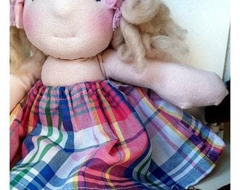 """Waldorf style doll 11"""" (28 cm)"""
