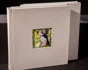 Custom Wedding Album. Personalized Wedding Photo Album.Fabric cover.10X10 inches . 25X25 centimeters. 40 pages. Art design.