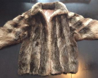 Vintage 100% Authentic Women's Fur Coat, Size Small