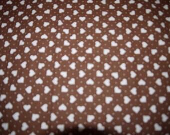 Fabric - Craft - 2 Lengths - Small Hearts - Sweden - Scandinavian - 70s - RETRO