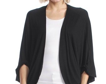 Women's Open Cardigan / Ruched Back (MORE COLOR)