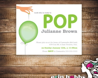 POP! Baby Shower Invite