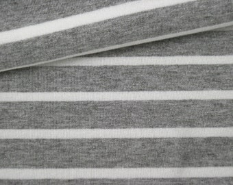 Viscose Jersey grey white stripes