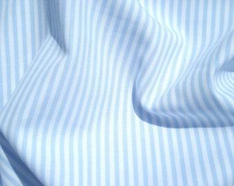 Vichy light blue stripe fabric 2.5 mm