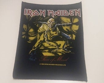 "Iron Maiden ""Piece Of Mind"" 1983 Vintage New Backpatch"