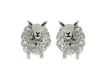 Handcrafted silver Cheviot sheep stud earrings, Cheviot sheep, Sheet gift, sheep breeds