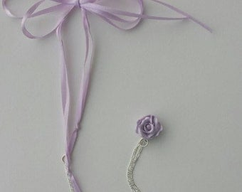 Rose, charm necklace