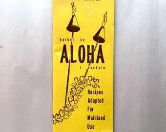 Vintage 1971 ALOHA Hawaiian Recipe Pamphlet