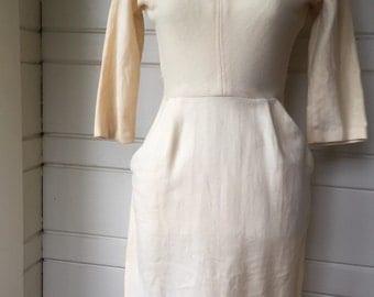 Wool wiggle dress