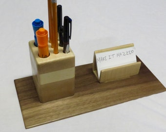 Office Business Card and Pen Holder