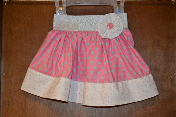 Girls Skirt, Toddler Skirt, Baby Skirt, Little Girls Skirt, Pink Skirt, Cotton Skirt, Spring Skirt, Summer Skirt, Polkadot Skirt