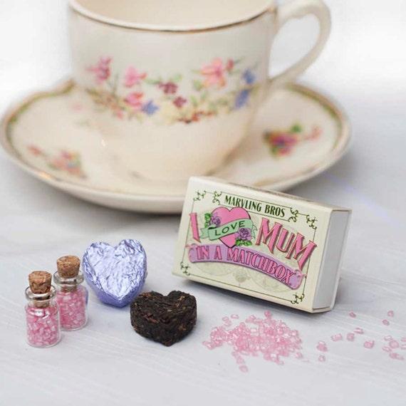 Tea For Mum In A Matchbox - I Love Mum - Gift for Mum - Tea Gift - Tea Lovers Gift - Tea For Mum - Mothers Day Gift