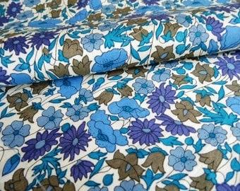 liberty fabric poppy and daisy blues