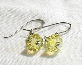 Crystal Faceted earrings