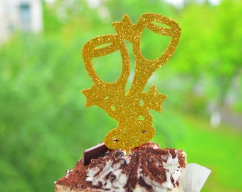 Bridal Shower Cupcake Topper Engagement Party Decor Bridal Shower Decor12 Glitter Cupcake Topper Wedding Cupcake Toppers