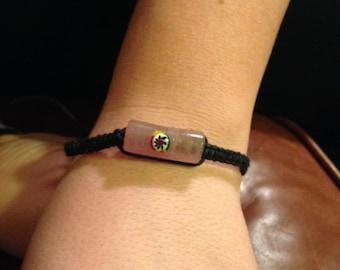 Hemp Bracelet with Glass Bead