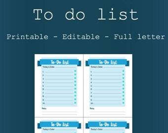 To-Do List - Printable & Editable