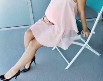 Think Pink Chiffon Dress