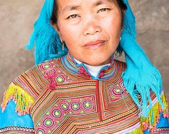 BAC HA TRIBESWOMAN. Vietnam Print, Tribeswoman Portrait, Travel Photography, Photographic Print, Limited Edition Print