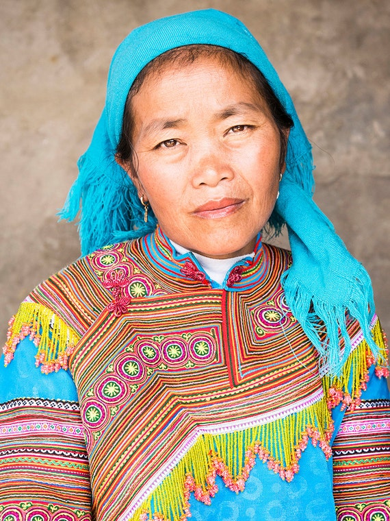 BAC HA TRIBESWOMAN. Vietnam Print, Tribeswoman Portrait, Travel Photography, Photographic Print, Limited Edition Print