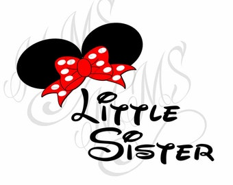 Little Sister Family Grandma Mickey Mouse Head Disney Family Download Iron On Craft Digital Disney Cruise Line Magnet Shirts