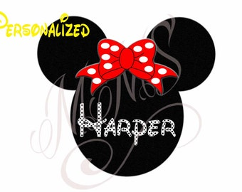 Personalized and Custom Mickey Mouse Head Disney Family Download Iron On Craft Digital Disney Cruise Line Magnet Shirts
