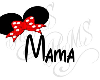 Mama Mickey Mouse Head Disney Family Download Iron On Craft Digital Disney Cruise Line Magnet Shirts