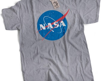NASA T Shirt Retro Meatball Logo Mens Premium T-Shirt Choice of Colours Small to 3XL Vintage NASA Logo Shirt NASA Tee nasa Meatball Logo