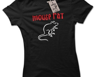 Mouse Rat Band T Shirt Inspired by Parks & Recreation Ron Swanson Shaped Ladies Shaped T Shirt Choice of 8 Colours Small to 2X Large