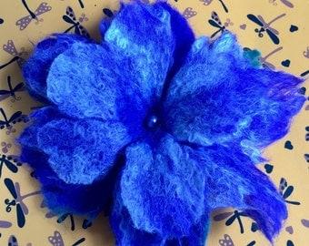 Felt flower, Brooch - a hairpin