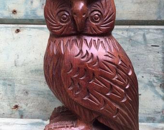 Wood Carved Owl