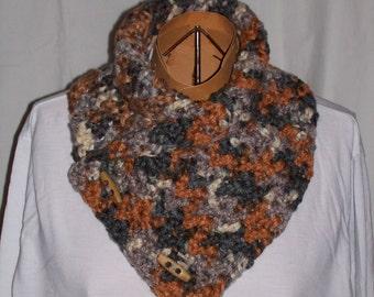 Crocheted neck warmer scarf