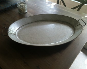 Vintage Metal Serving Tray from France