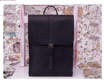 Leather backpack, handmade, leather bag , vintage leather backpack, leather rucksack, laptop backpack, school backpack, women backpack