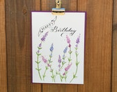 Custom Order for Linda - Set of 5 Botanical Happy Birthday Cards