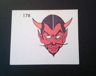 Devil, Monster, Halloween, Vintage Halloween, Flash Card, Kopycake, Cake Decorating,