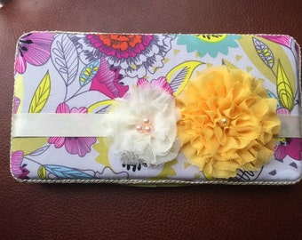Floral baby wipe case