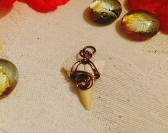 Wire wrap shark tooth