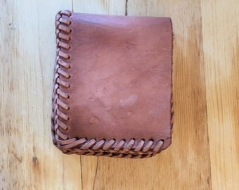 Tan/Pink Leather Wallet