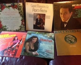 vintage LP records in original covers