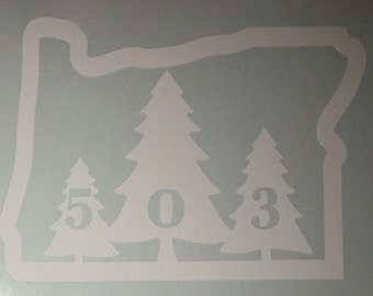 Oregon Sticker- Trees w/503