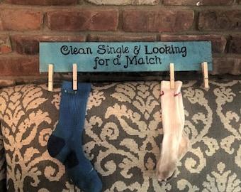 Missing Sock Pallet Sign