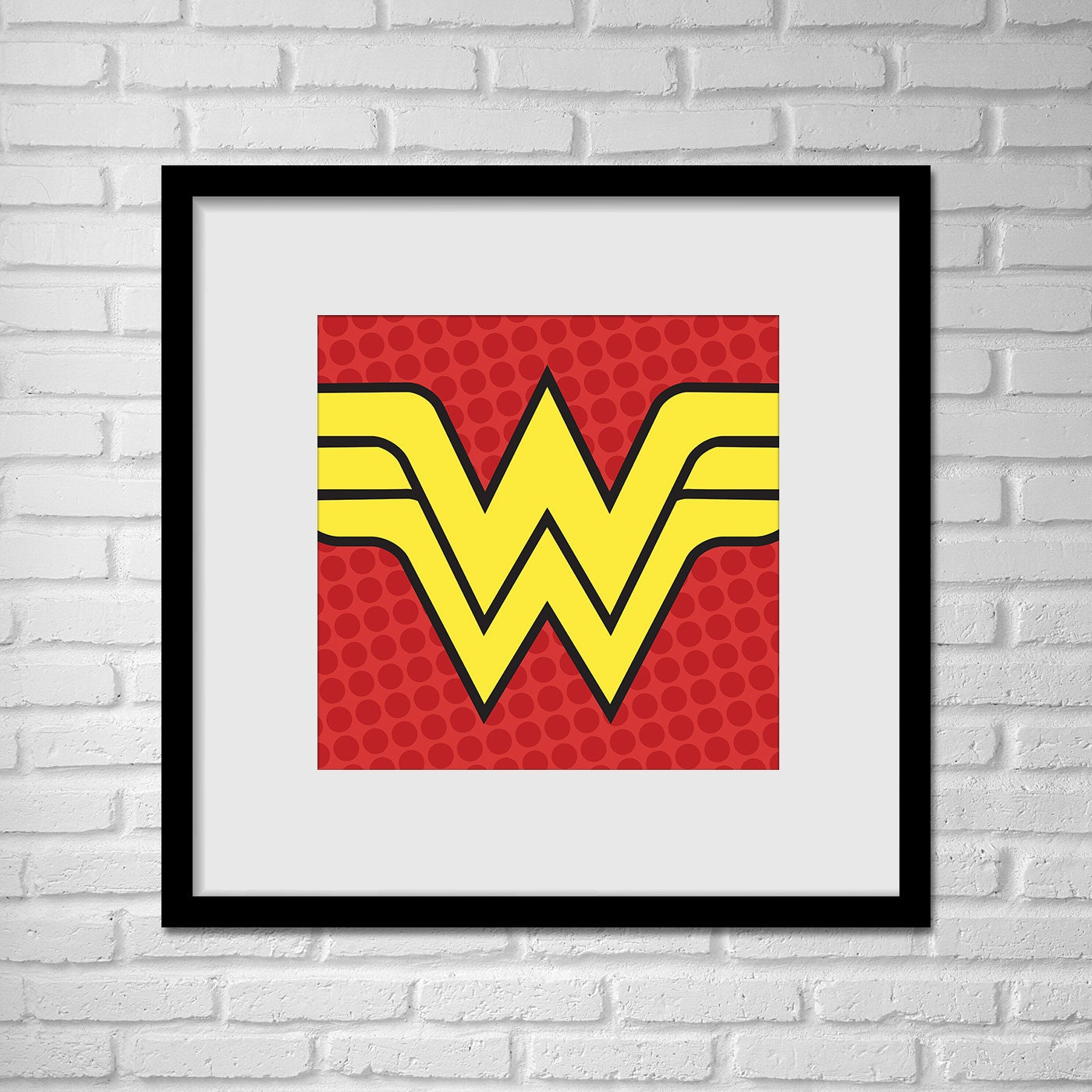 Wonder Woman Wall Art superhero wonder woman pop art wall art /wonder woman logo