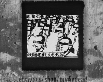 The Distillers Sing Death House Street Punk People Hardcore Patch • punk clothing • punk patches • punk aufnäher • custom patches