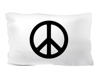 Peace symbol pillowcase by Let them sleep