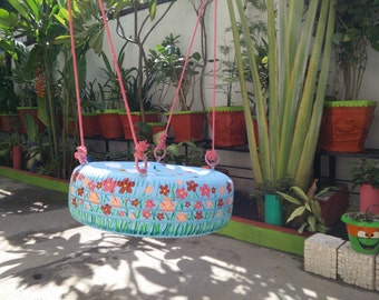 Painted Tyre Swing