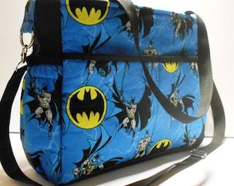 DC Comics Batman Diaper Bag, Large Diaper bag, Batman Baby Bag, Batman Tote, Batman Shoulder Bag, Batman Handbag, Batman Carry all bag, tote